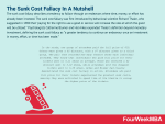 What Is The Sunk Cost Fallacy? The Sunk Cost Fallacy In A Nutshell
