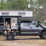 Toyota Tundra Camper With Pop Up Top Is The Ultimate Off Road Rig Van Clan Four Wheel Campers