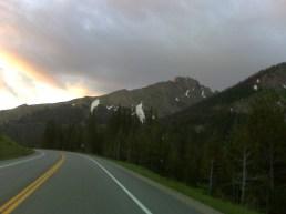 Sunrise near Cameron Pass