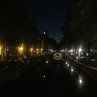 Amsterdam gracht nacht