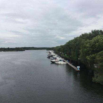 haven vanaf brug, Well, Limburg