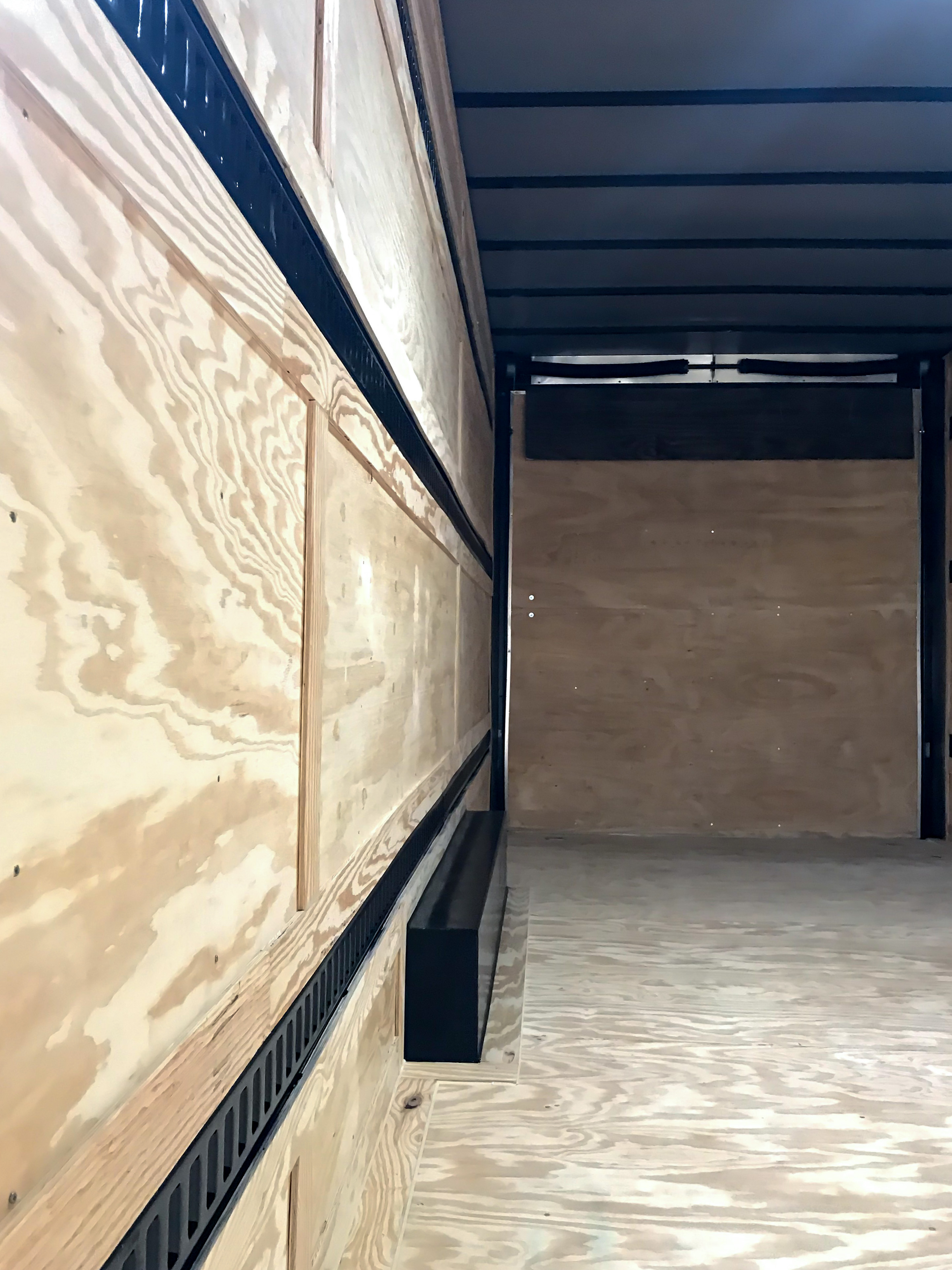 Inside of new upgrade trailer