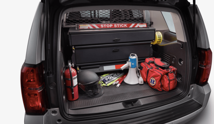 2021 Chevrolet Tahoe Police Package Cargo and Space