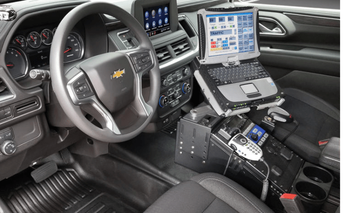 2021 Chevrolet Tahoe Police Package Interior and dashboard