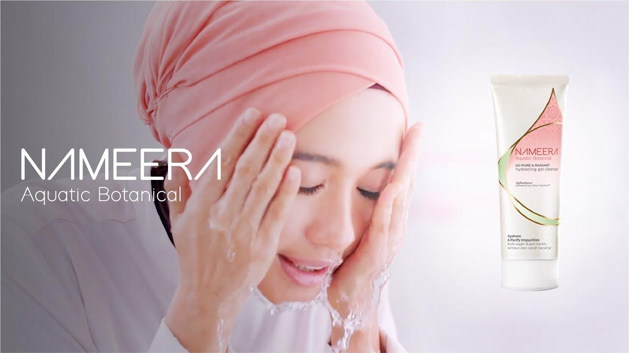 Membersihkan Wajah dengan Nameera Gel Cleanser