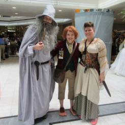 A couple playing Gandalf and Bilbo, and me in my RenFaire garb.