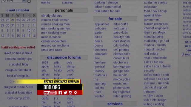 Avoid Getting Scammed On Craigslist With The Bbb Fox2now Com