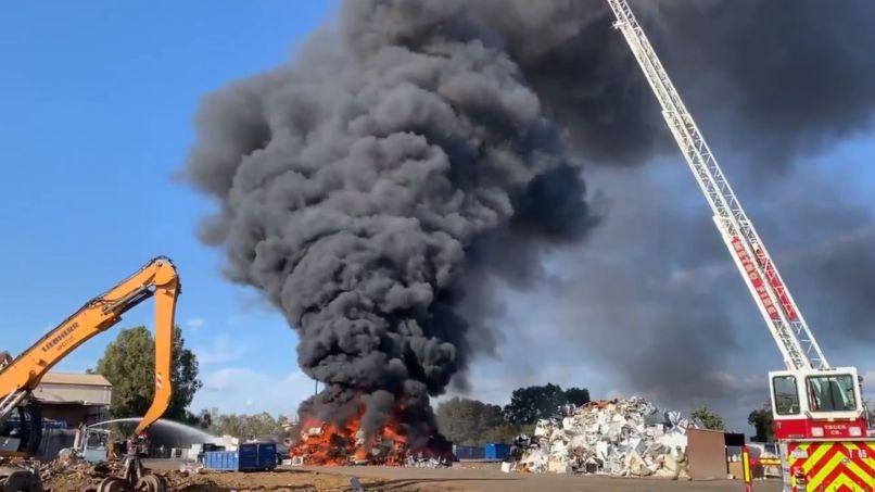 Rancho Cordova Recycling Center Fire