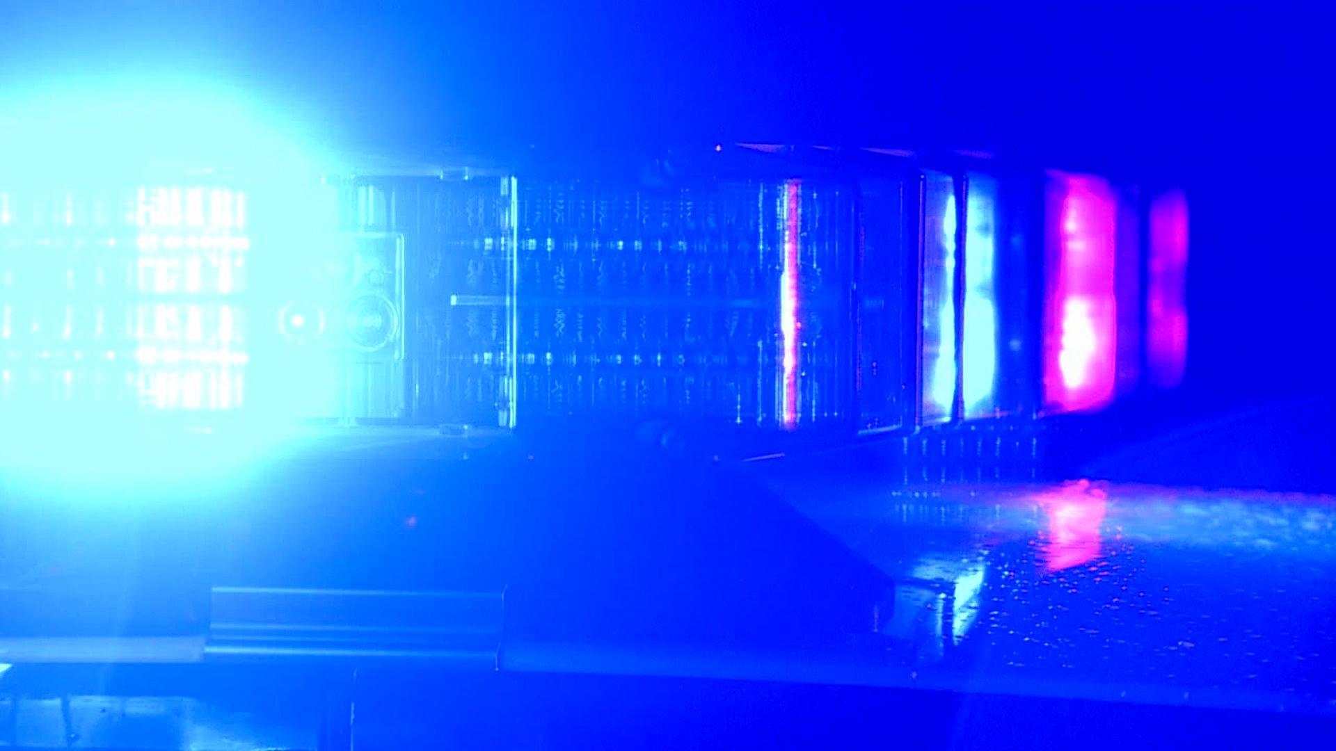 File photo of flashing police lights