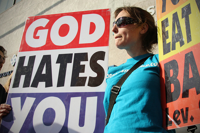 Westboro church member, courtesy Flickr users msun523