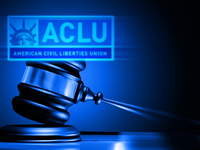 Picture of gavel and ACLU logo