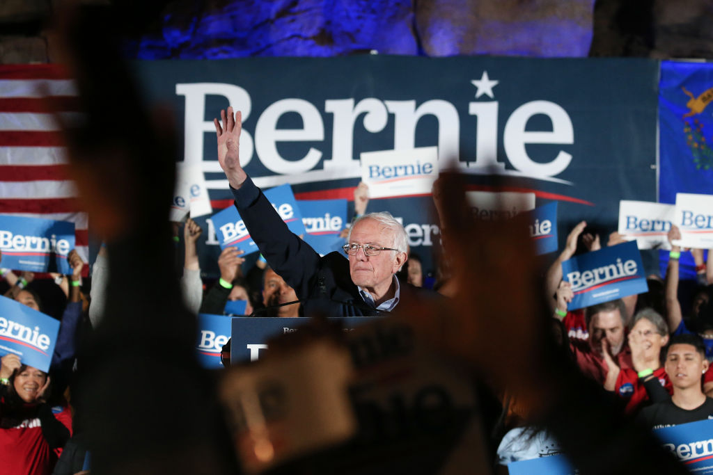 Picture of Bernie Sanders in Nevada