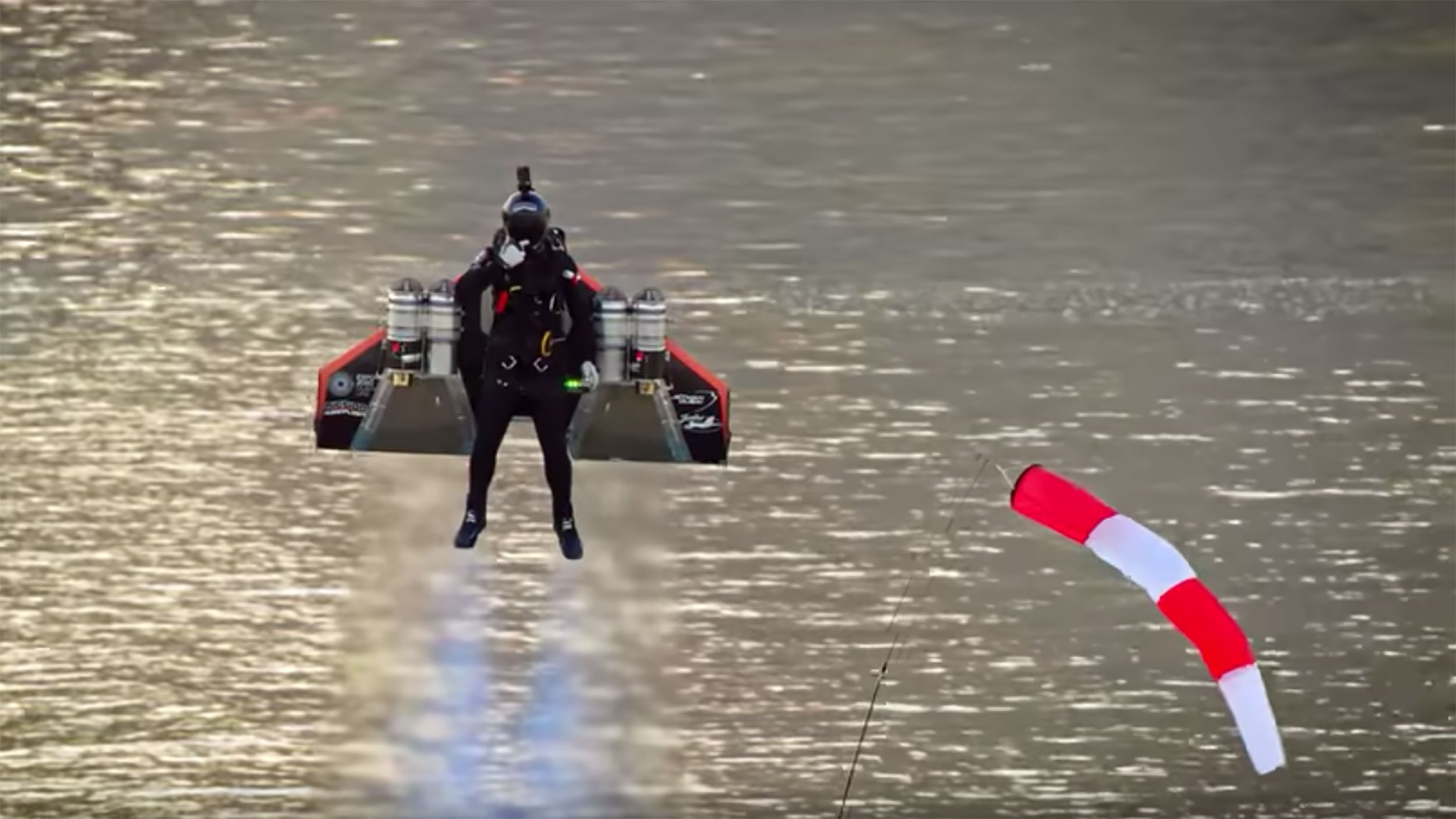 Jet-powered wingsuit