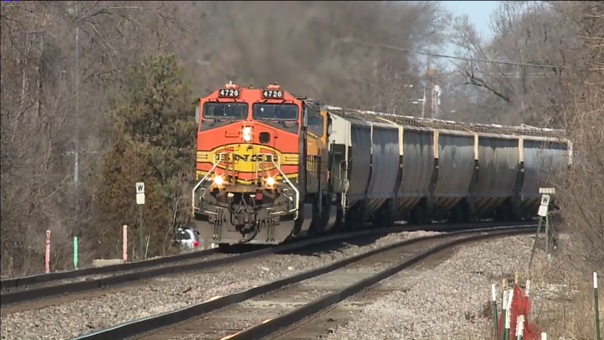 Train on the tracks - Olathe