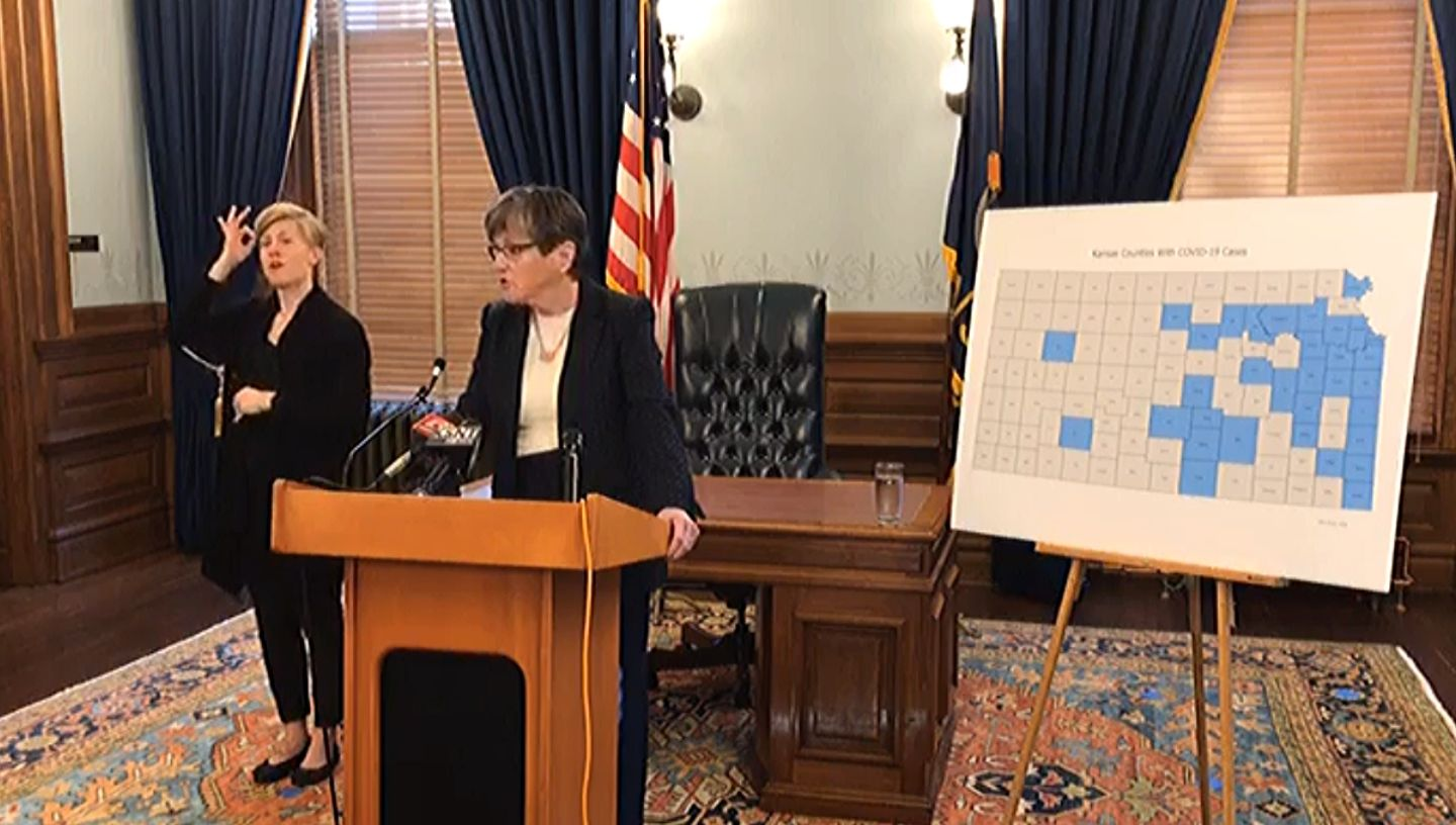 Picture of Gov. Laura Kelly speaking