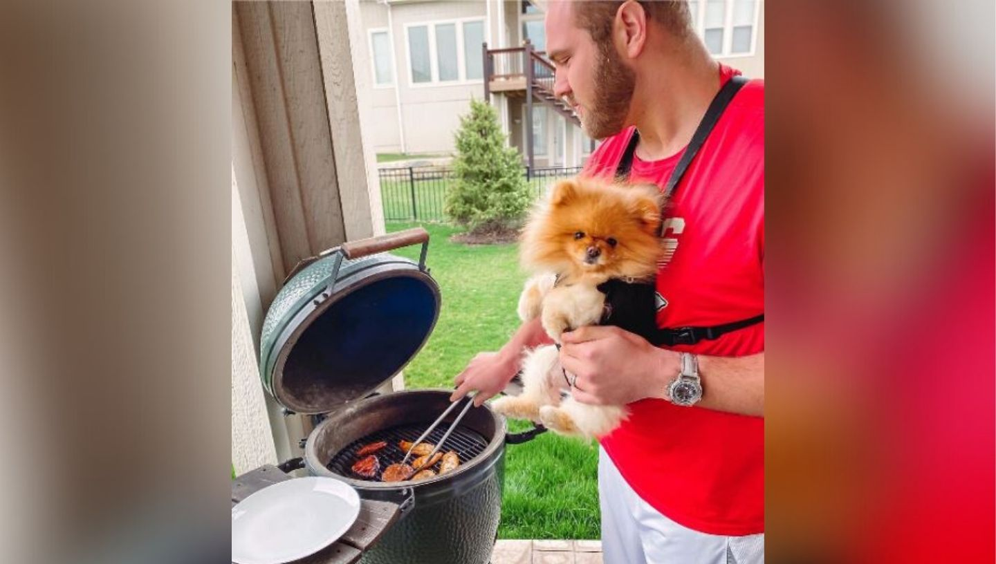 Picture of Mitch Schwartz grilling