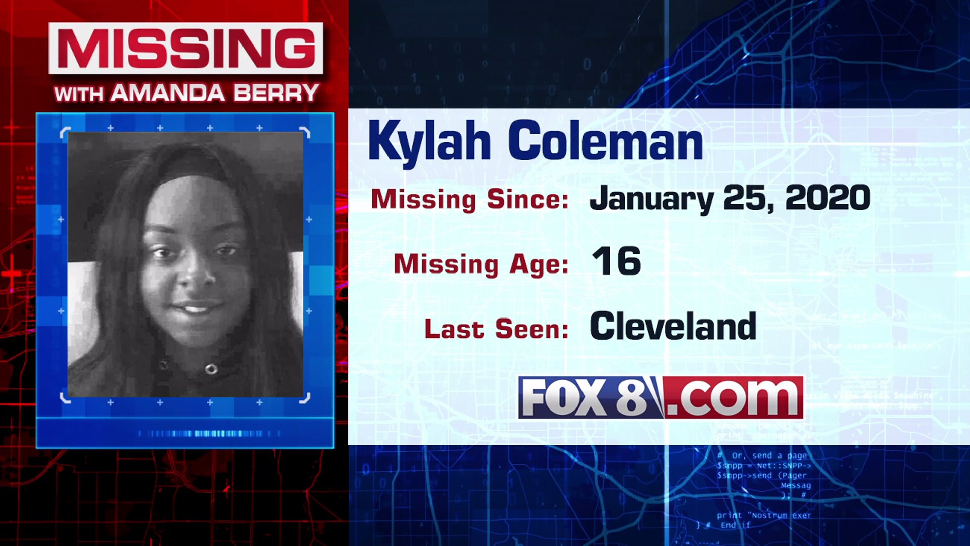 Missing Kylah Coleman