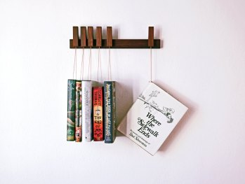 Wooden Bookshelf by OldAndCold | Friday Favorites via Fox & Brie