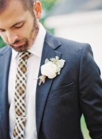 Wedding: Donovan & Samantha | Photo by Michelle March | Necktie by Fox & Brie