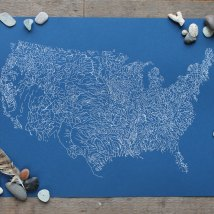 USA Rivers Poster by The Far Woods | via Fox & Brie