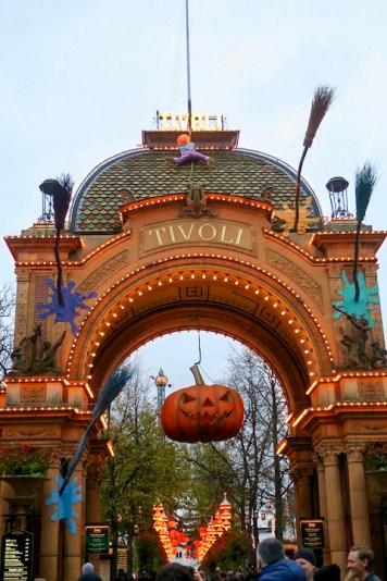 Les décorations d'Halloween à Tivoli Copenhague