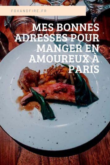 Mes bonnes adresses romantiques à Paris