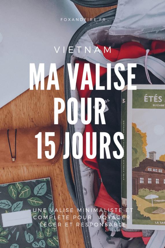 Ma valise minimaliste et zéro déchet pour le Vietnam