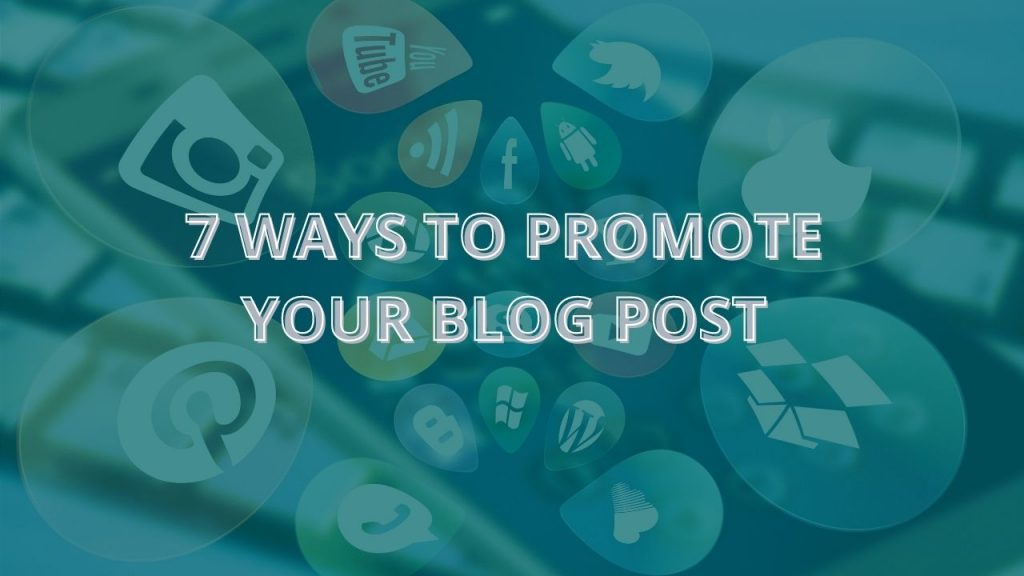 How to promote your blog post - Title card