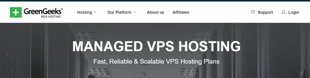 VPS type of hosting - GreenGeeks