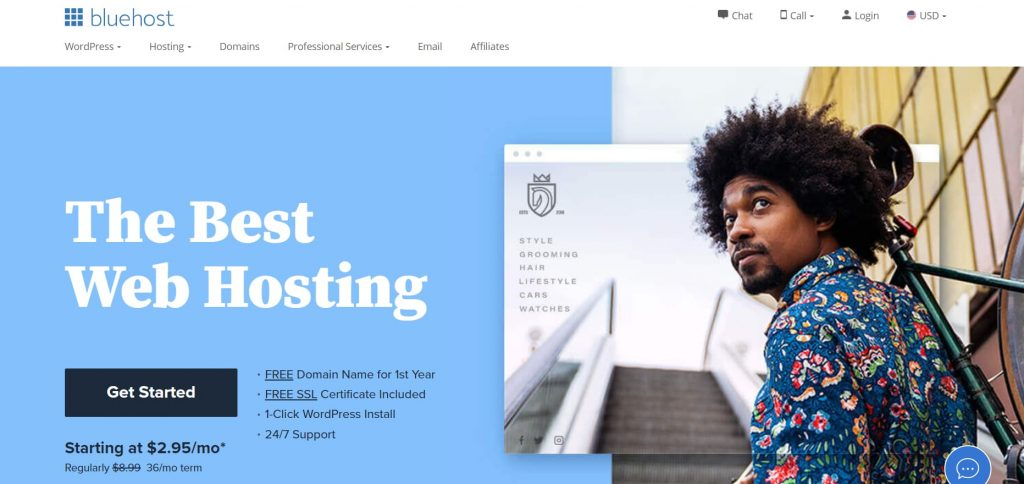 Bluehost WordPress hosting recommended