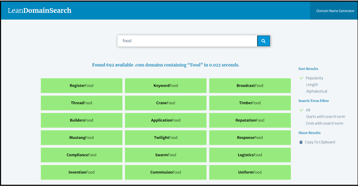 Domain name generators to choose domain name