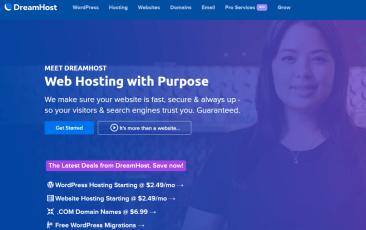DreamHost SSD hosting providers