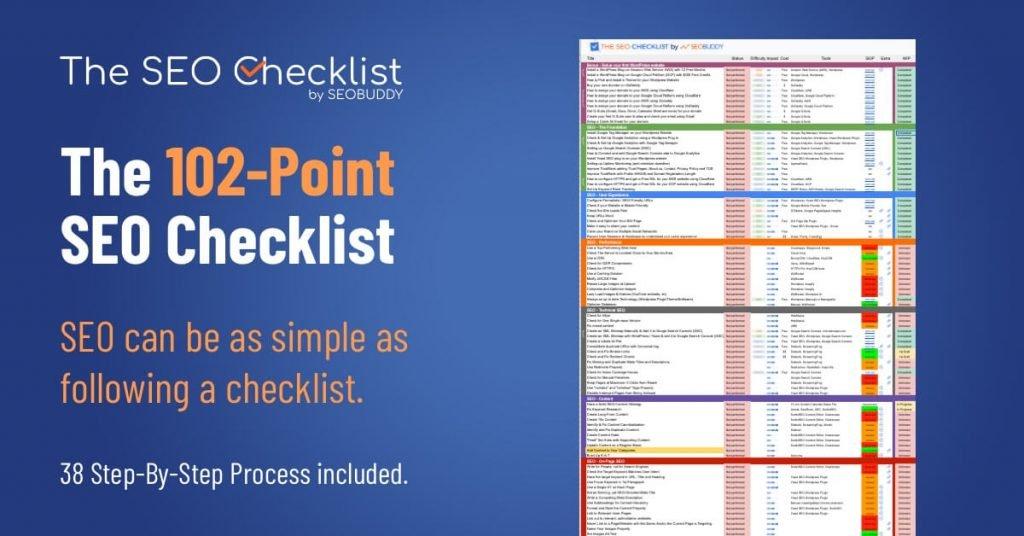 102 Point SEO checklist