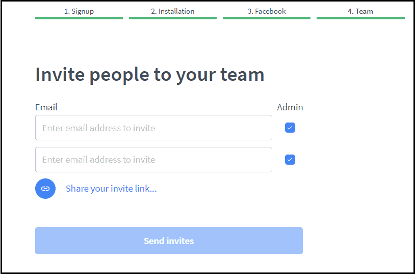 Invite team to join on LiveChat