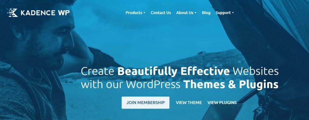 Kadence - Effective free theme for blogs