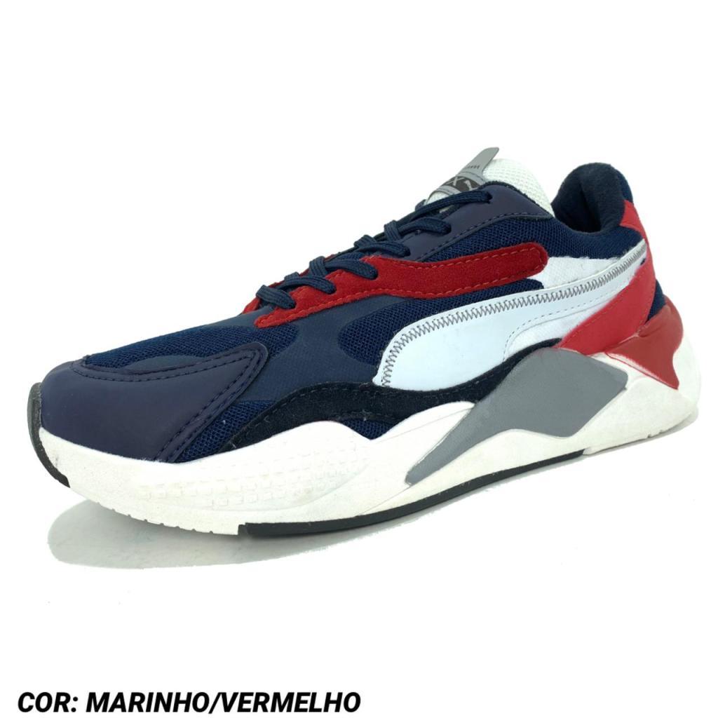 PUMA RUNNING MARINHO VERMELHO