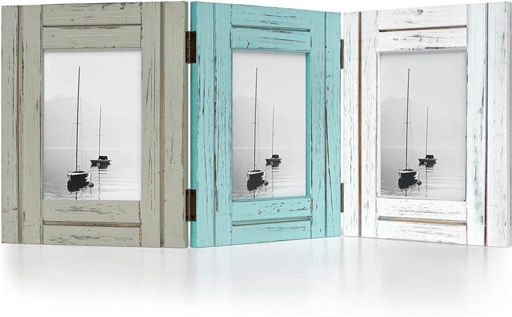 Barnyard Designs Rustic Wood Picture Frame Set