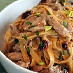 Tea-Smoked Duck Fettuccine - A decadent, restaurant-quality pasta made at home! | foxeslovelemons.com