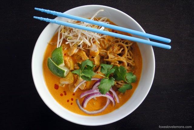 Thai Curry Chicken Noodle Soup (Khao Soi)