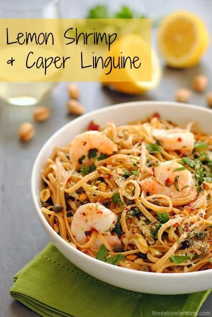 Grilled Shrimp With Capers : grilled, shrimp, capers, Lemon, Caper, Pasta, Shrimp, Foxes, Lemons