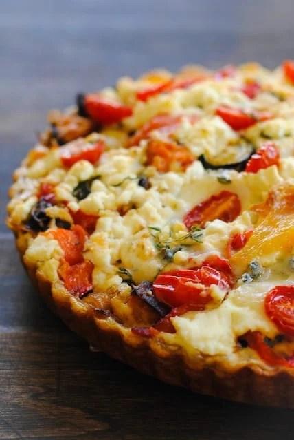 "Very Full Tart from ""Plenty"" – a flavorful and beautiful vegetable tart. | foxeslovelemons.com"