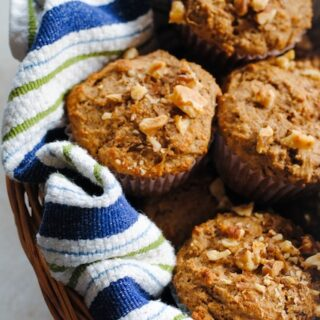 Maple-Pecan Bran Muffins - A tasty breakfast packed with vitamins and nutrients!   foxeslovelemons.com