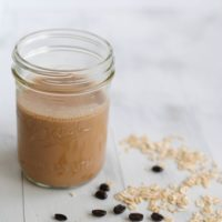 Mocha-Banana Breakfast Smoothie - A fruity smoothie and a cup of coffee...all in one! Get the energy to power through your day with this recipe!   foxeslovelemons.com