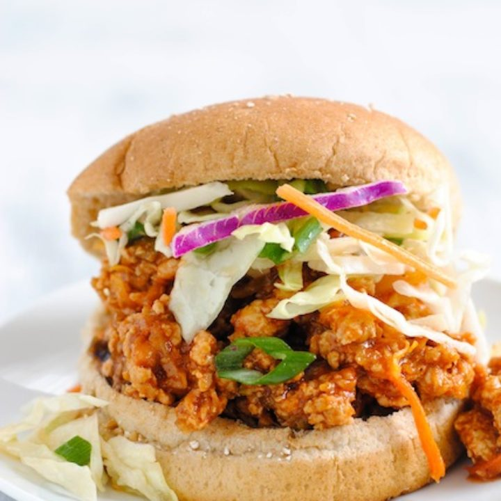 Asian-Style Chicken Sloppy Joes