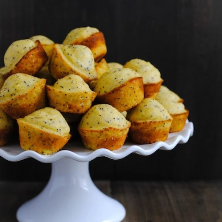 Lemon-Poppyseed Cornbread Mini Muffins - A versatile mini muffin that can be served with a savory meal or enjoyed on its own! | foxeslovelemons.com