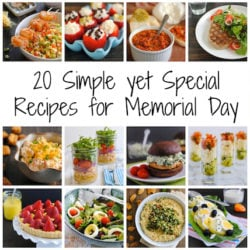 20 Simple yet Special Recipes for Memorial Day Weekend - Appetizers, dips, sandwiches, grilled entrees, sides, salads, desserts and drinks perfect for a relaxed but delicious holiday weekend. | foxeslovelemons.com