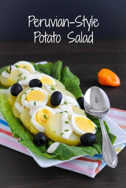 Peruvian-Style Potato Salad - A creamy, cheesy and slightly spicy twist on potato salad. | foxeslovelemons.com