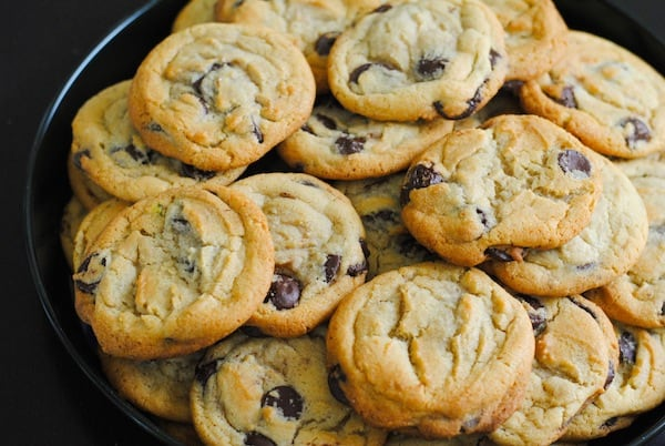 Infamous Jacques Torres Chocolate Chip Cookies | Sangria Party Week 2014 | foxeslovelemons.com