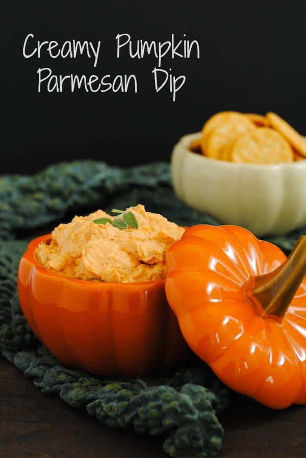 Creamy Pumpkin Parmesan Dip - A savory way to get some pumpkin goodness into your life. | foxeslovelemons.com