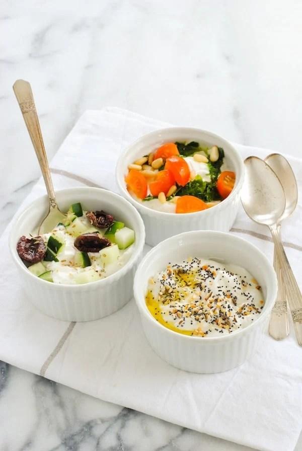 Savory Yogurt Three Ways